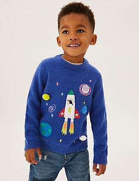 Space Knitted Jumper (2-7 Yrs)