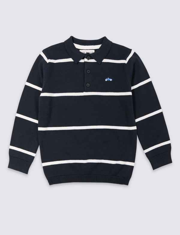 eb8d9c1934 Pure Cotton Knitted Polo Shirt (3 Months - 7 Years)