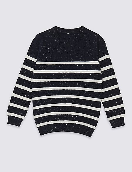 Pure Cotton Striped Jumper (3 Months - 7 Years)