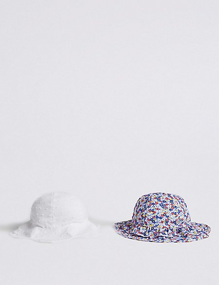Kids' 2 Pack Hats with Sun Smart UPF50+ (0-6 Years)