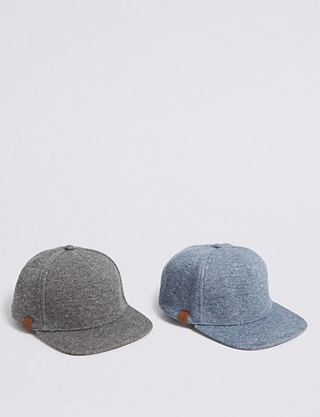 Kids' 2 Pack Baseball Caps (3-14 Years)