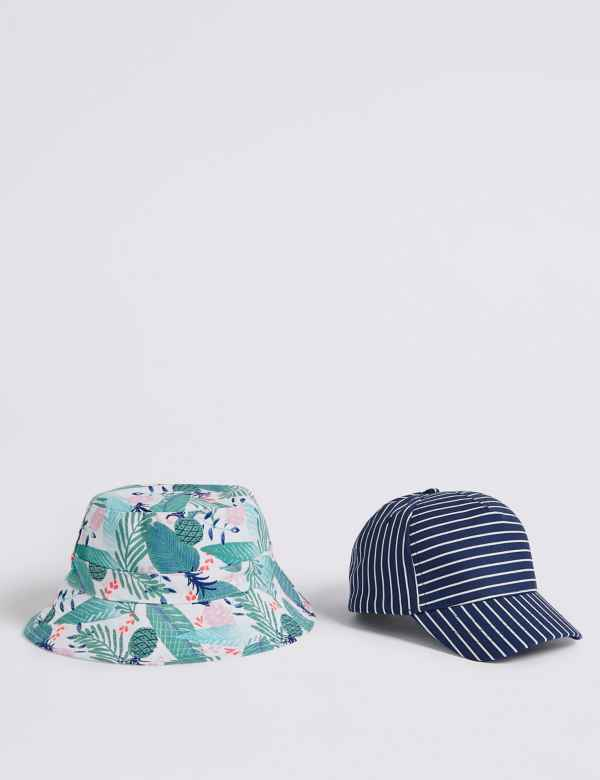9af6a13e223 Kids  2 Pack Bucket Hat   Cap with Sun Smart UPF50+ (3-14
