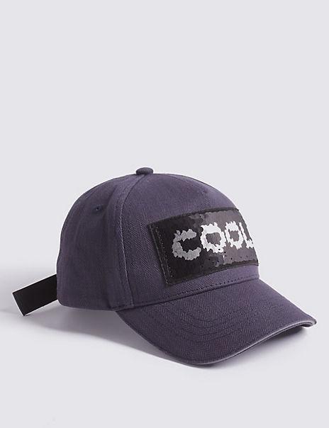 Kids' Pure Cotton Slogan Baseball Cap (3-14 Years)