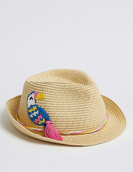 Kids' Applique Trilby Hat (3-14 Years)