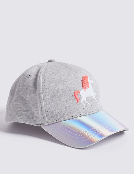 Kids' Pure Cotton Unicorn Baseball Cap (3-14 Years)