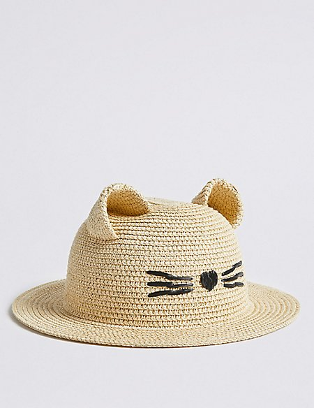 Kids' Straw Hat with Sun Smart UPF50+ (3-6 Years)