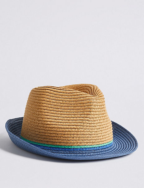 Kids' Colour Block Trilby Hat (6 Months - 14 Years)