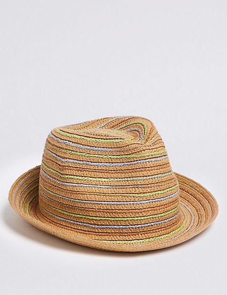 Kids' Straw Trilby Hat (6 Months - 6 Years)
