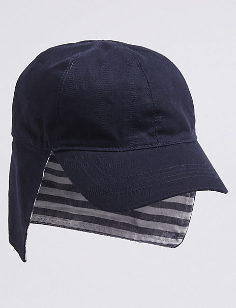 Kids' Pure Cotton Legionaire Striped Hat (0-6 Years)