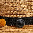 Kids' Straw Hat with Sun Smart UPF50+ (6-14 Years) , NATURAL MIX, swatch