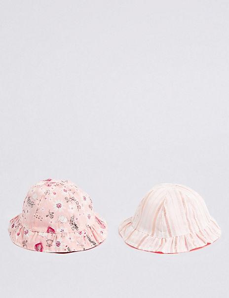 Baby 2 Pack Reversible Bucket Hats