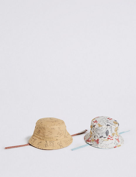 Baby 2 Pack Reversible Bucket Hats