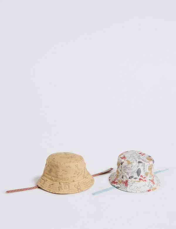 af542b8d5607b Baby 2 Pack Bucket Hats with Sun Smart UPF50+
