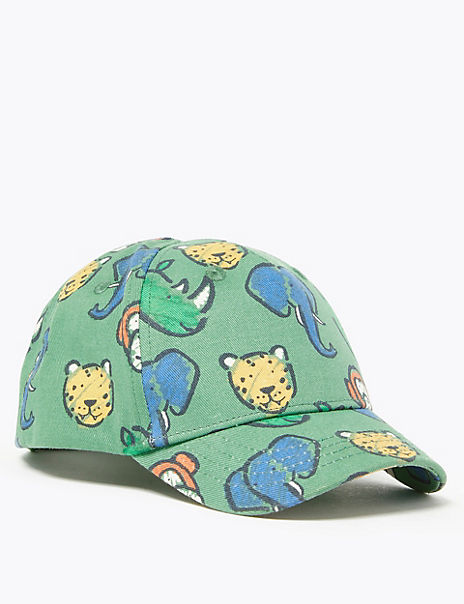 Kids' Cotton Animal Print Baseball Cap (1-6 Years)