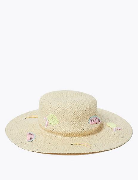 Straw Fruit Sun Hat (6-14 Years)