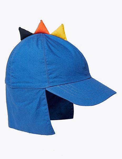 Kids' Pure Cotton Dinosaur Sun Hat (1-6 Years)