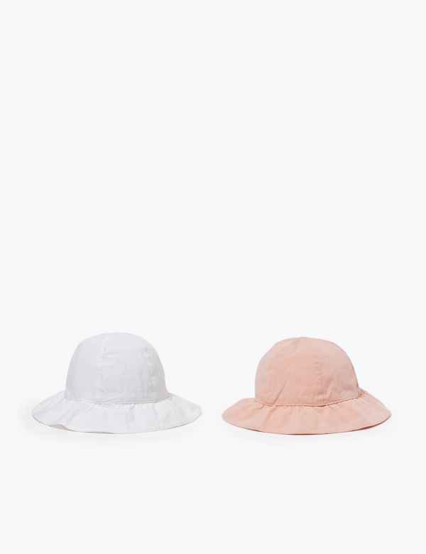 Peppa Pig Girls Safari Pink Stripey Summer Beach Cap Hat