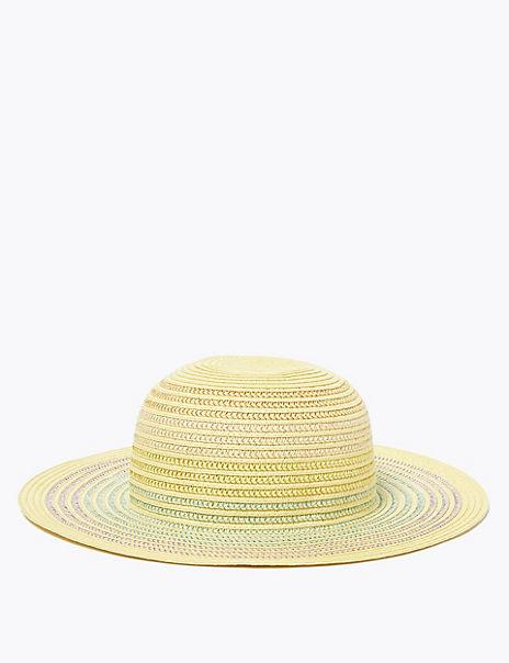 Kids' Rainbow Glitter Sun Hat (6-14 Years)