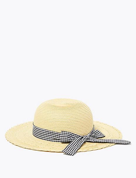 Kids' Straw Sun Hat (6-14 Years)