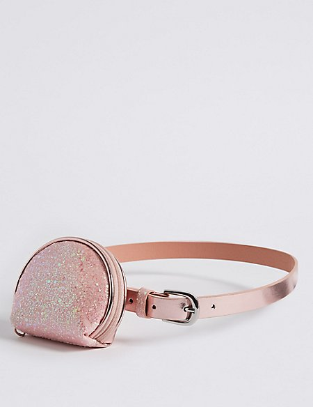 Kids' Buckle Belt with Purse