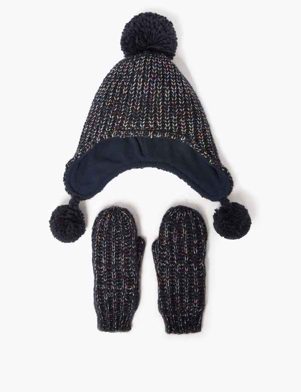 3a6e9f893 Girls' Hats, Gloves & Scarves | Winter Hats for Girls | M&S
