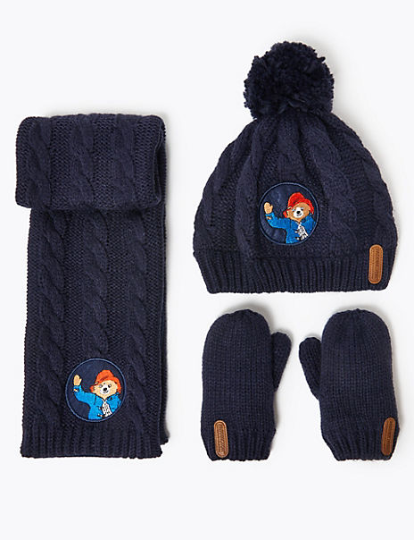 Kids' Paddington™ Hat, Scarf & Mitten Set (6 Months - 6 Years)