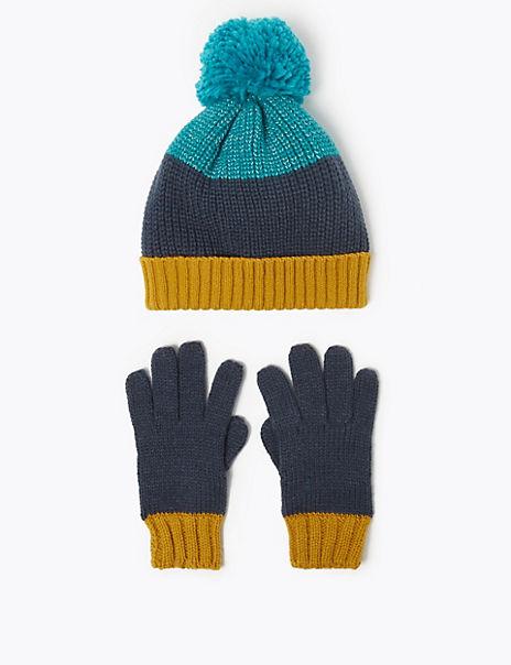 Kids' Reflective Hat & Glove Set (3-14 Years)