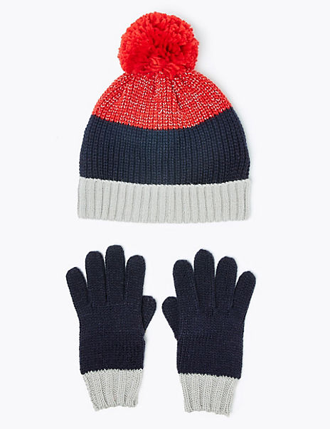 Kids' Reflective Hat & Glove Set (3-14 Years)