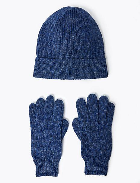 Kids' Fisherman Hat & Gloves Set (3-14 Years)