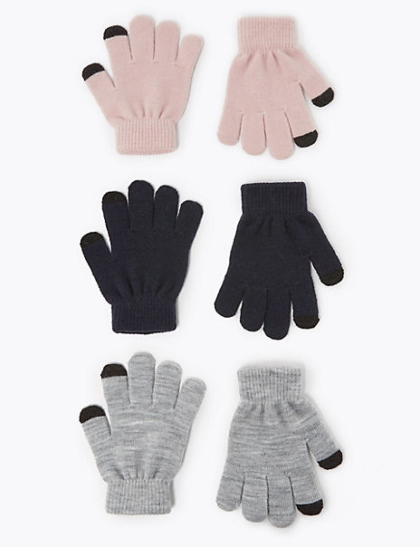 Kids'3 Pack Magic Gloves