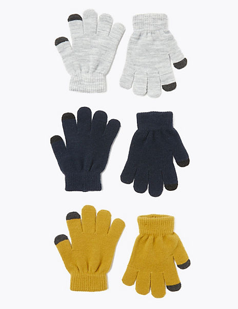 Kids' 3 Pack Magic Gloves