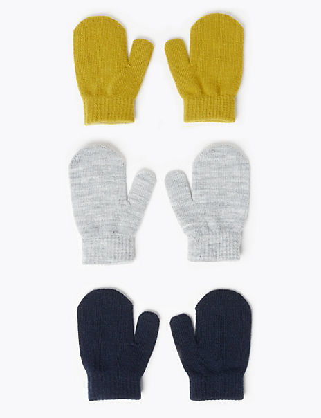 3 Pack Mittens