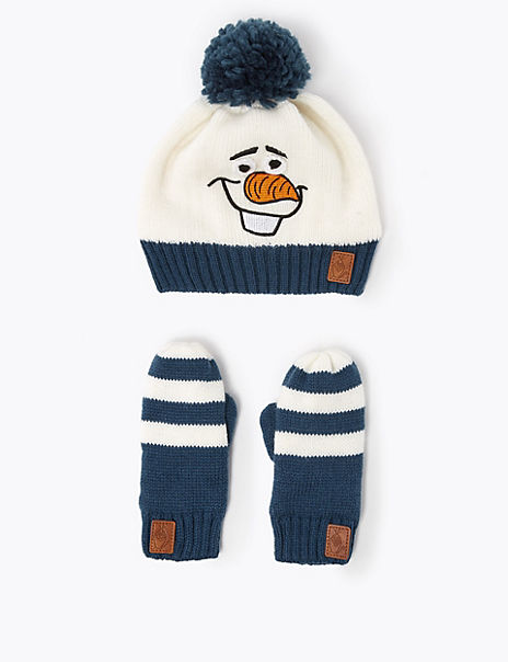 Kids' Disney Frozen™ 2 Olaf Hat & Mittens Set (6 Months - 6 Years)