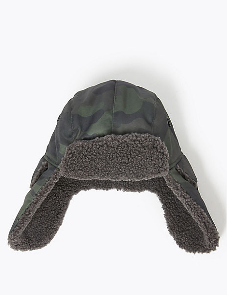 Kids' Camouflage Print Trapper Hat (3-14 Years)
