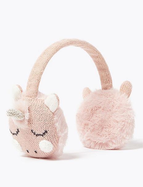 Kids' Faux Fur Unicorn Ear Muffs