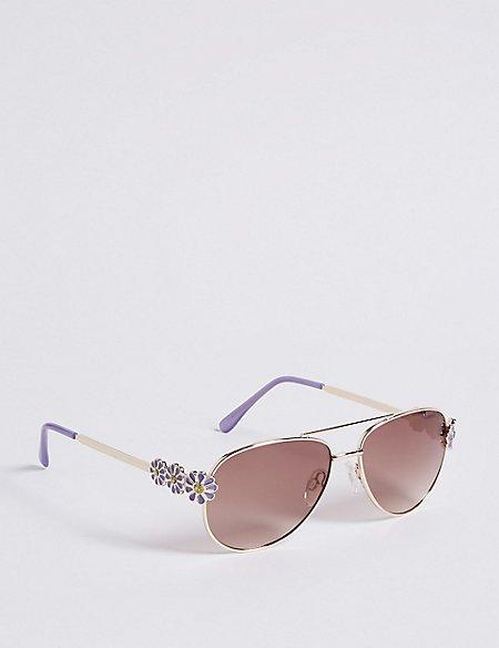 Flower Aviator Sunglasses