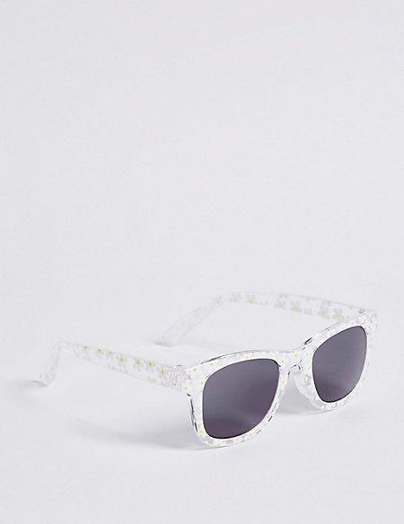 Smaller Frame Daisy Floral Print Sunglasses