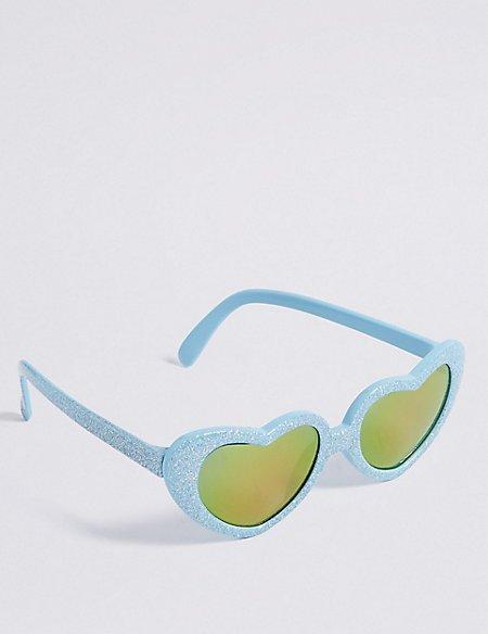 Smaller Frame Heart Sunglasses