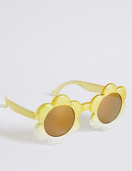 Smaller Frame Novelty Floral Sunglasses