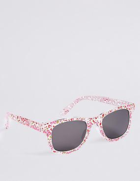Smaller Frame Ditsy Print Sunglasses
