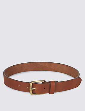 Kids' Leather Buckle Belt