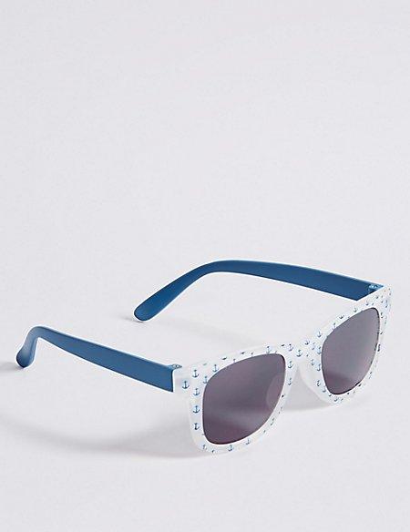 Smaller Frame Anchor Print Sunglasses