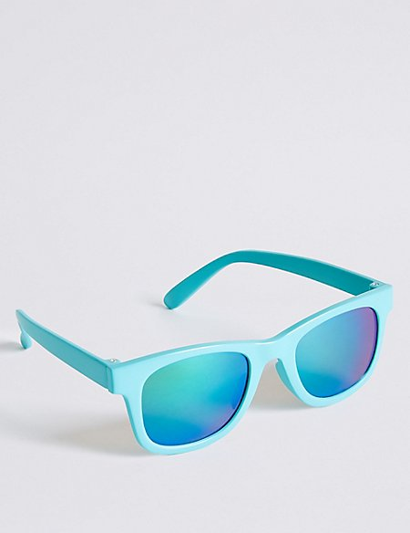 Smaller Frame Colour Block Sunglasses