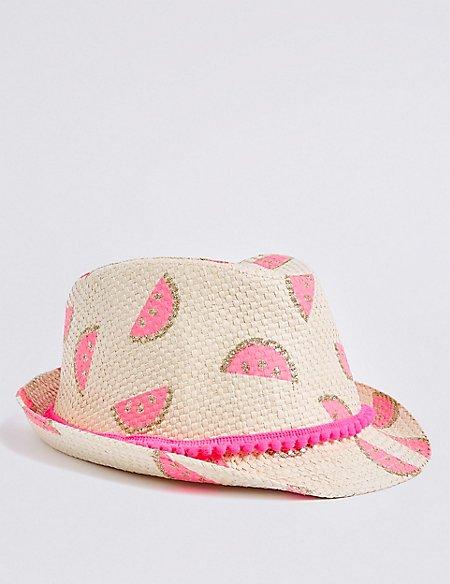 Kids' Watermelon Trilby Hat (3-14 Years)