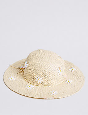 Kids' Daisy Floppy Summer Hat (6-14 Years)