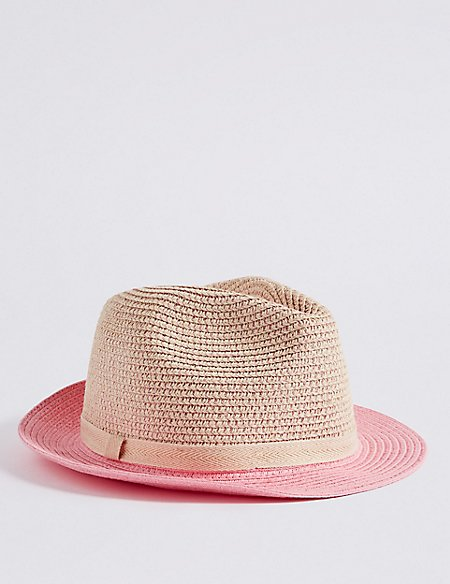 Kids' Metallic Trilby Summer Hat (3 - 14 Years)
