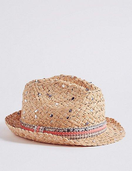 Kids' Sequin Summer Hat (3 - 14 Years)