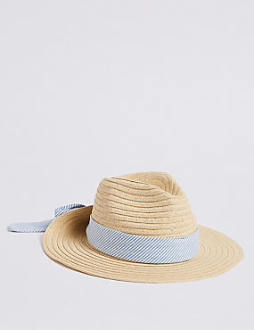 Kids' Bow Back Summer Hat (6-14 Years)