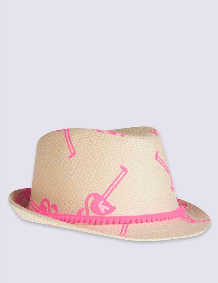 9d4e96ce Kids' Pom-Pom Trilby Hat | M&S