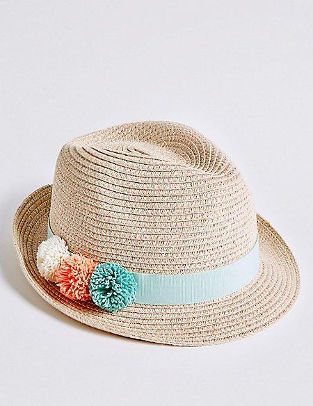 Kids' Pom-pom Summer Hat (6 Months - 6 Years)